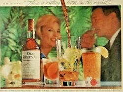 Vintage Life Magazine Color Ad '59 Old Forester Kentucky Straight Bourbon Whisky