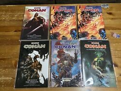 Dark Horse King Conan Trade Tpb Lot Of 6 Wolves Conquerer Scarlet Phoenix Hour