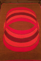 Vintage Didas Deken Holland Thick Acrylic Blanket 78x58 Red Mid Century 60s/70s