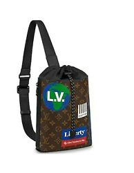 Louis Vuitton Limited Edition Brown Monogram Canvas Chalk Sling Bag Womenand039s