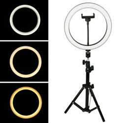 Led Ring Light 10 W/mount Kit And Stand For Camera Phone Selfie Video Live Stream