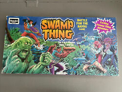 Vintage Swamp Thing Battle For The Bayou Board Game Complete 1991 Rose Art