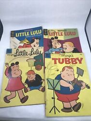 Marge's Little Lulu And Tubby Dell Gold Key Comic Books Set Of 4 Golden Age