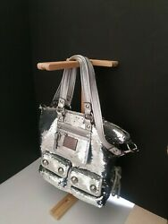 Limited Edition COACH Poppy Large Spotlight Sequins Silver Bag 13821 $250.00