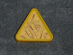 Fisher Price Little People Vintage Yellow Triangle Zoo Food Tray #916