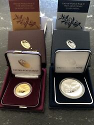 End Of World War Ii 75th Anniversary 24-karat Gold Coin And Silver Medal