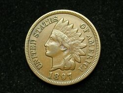 2021 Sale Xf 1897 Indian Head Cent Penny W/ Diamonds And Full Liberty 115w