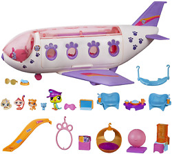 Littlest Pet Shop Pet Jet Playset Toy, Includes 4 Pets, Assembly Required No T