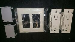 New Pands Rv Camper Trailer Self Contained Dual Wall Plugs 4 Outlets 1 Plate Cover