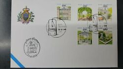 A 1994 San Marino Gardens Fdc The Gate The Bower The Well The Gazebo Th