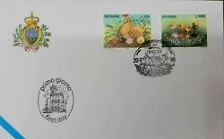 A 1996 San Marino Unicef Fdc 50th Anniversary Hen And Chicks Birds In The