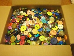 10 Lbs Pounds Vintage Buttons Grab Bag Mixed Lot Misc Colors Sizes Crafts