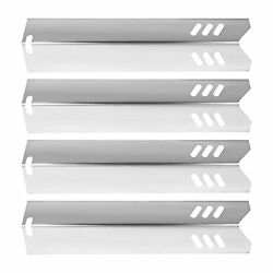 Qzdg 4 Pack Grill Parts Heat Plates Stainless Steel Bbq Burner Cover Replacem...