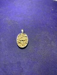 14ky Gold And Placer Gold Nuggets Pendant 21625p