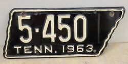 Vintage 1963 Tennessee Motorcycle License Plate - Sullivan County Original Paint