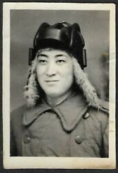 Tank Soldier Helmet With Fur Flaps China Pla/pva Chinese Army Photo