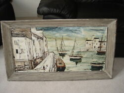 Original Painting On Board Charles Levier Aka Maurice Verrier See Other Side