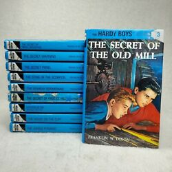 The Hardy Boys Books By Franklin W. Dixon Lot Of 10 Hardcover, Ex Library