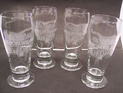 Vintage Etched Set 4 Michelob Specialty Ales And Lagers Beer Glass Tumblers 6 5 T