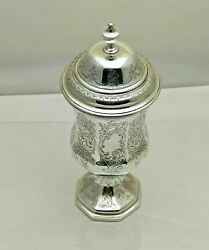 Antique Solid Silver Victorian Chalice And Cover 1844 391g 25cm 1 Pint 1814-9-onsb