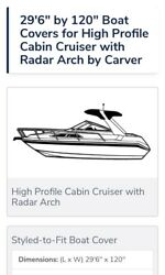 Boat Cover Trailerable 29and0396 With Radar Arch Made In The Usa 🇺🇸