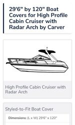 Boat Cover Trailerable 29'6 With Radar Arch Made In The Usa 🇺🇸