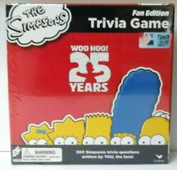 The Simpsons 25th Anniversary Trivia Board Game Fan Edition Cartoon Sealed