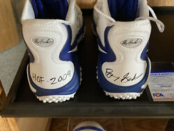 Barry Sanders Nike Zoom Shoes Autographed By Same Coa By Schwartz And Psa