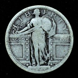 1917-p T1 Standing Liberty Quarter ✪ Ag About Good ✪ 25c Silver Type 1 ◢trusted◣