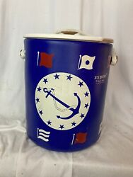 Ice House By Hamilton Skotch Nautical Themed Cooler Bucket With Tray