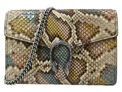 Dionysos Chain Wallet 401231 Python Leather Brown Tiger Head Simple Used