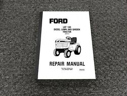Ford Lgt 14d Diesel Lawn And Garden Tractor Shop Service Repair Manual 40001411
