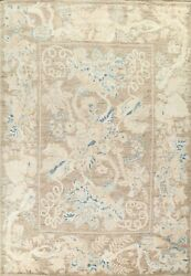 Vegetable Dye Floral Oushak Turkish Oriental Area Rug Hand-knotted Wool 9x12 Ft