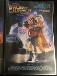 Back To The Future 2 Cast Signed One Sheet Poster Autograph Michael J Fox