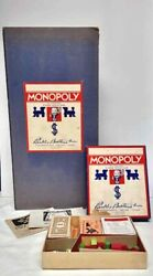Vintage 1936 Monopoly Board Game Parker Bros. Board And All Pieces
