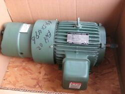 Toshiba 5hp. Ac Induction Electric Motor W/stearns 105 Lb-ft Static Torque Brake