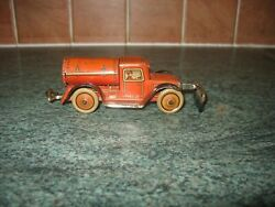 Rare Georg Levy Gely Road Sweeper 1930 Tin Penny Toy Germany Non Fall Tinplate