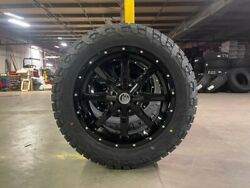 5 20x9 A2 Offroad Mo970 Black Wheels 32 Fuel At Tires 5x5 Jeep Gladiator Jt