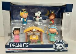 Peanuts Nativity Figures Deluxe Set Charlie Brown 70th Anniversary Snoopy  D20