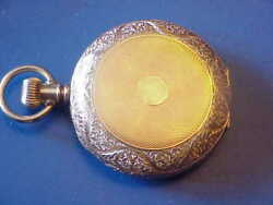 WALTHAM 6S HUNTER CASE POCKET WATCH YELLOW GOLD FILLED CIRCA 1889 REAL BEAUTY