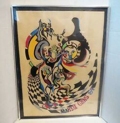 Only 100 Exist New Orleans Carnival Signed Mardi Gras Silk Screen Poster Print