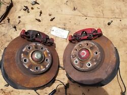Bmw E46 Front Hubs Spindles Knuckles Brakes Rotors Calipers 325 328 323 Oem Both