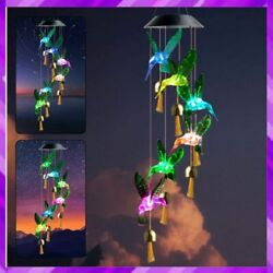 Led Wind Chimes Hummingbird Solar Color Changing Light Chime Bells Zhengshizuo