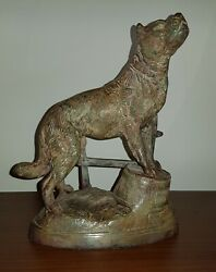 Exceptional Antique Bronze 19th Sculpture Signed By Charles Valton