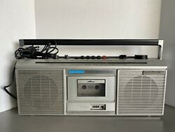 Vintage Pioneer Sk-100 1980s Old School Portable Boombox Single Cassette Working