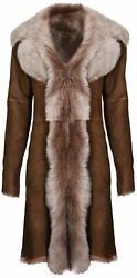 Beaver Ladies Womenand039s Real Toscana Sheepskin Leather Suede Jacket Trench Coat