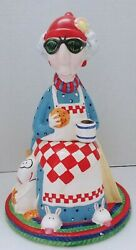Maxine Old Lady Ceramic Cookie Jar Not Just Breakfast Anymore Hallmark 90s Wagne