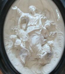 The Assumption Of The Blessed Virgin Mary Rare Auguste Jean Masson Carved Art