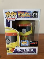 Funko Pop Movies Marty Mcfly 815 Hazard Suit Back To The Future 2019 Nycc