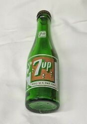 Vintage 7 Up Swimsuit Girl Green Soda Bottle, Chattanooga Tennessee 7 Oz + Cap